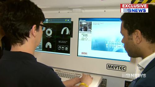The ambulance in Melbourne is allowing doctors to carry out world first research into ways of treating strokes. Picture: 9NEWS