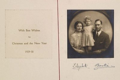 Royal Family shares Christmas card from 1929