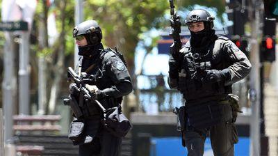 Police in Sydney's CBD.