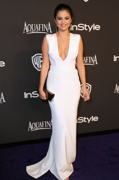 Selena Gomez in KaufmanFranco at the 2015 InStyle Warner Bros 72nd Annual Golden Globe Awards After Party