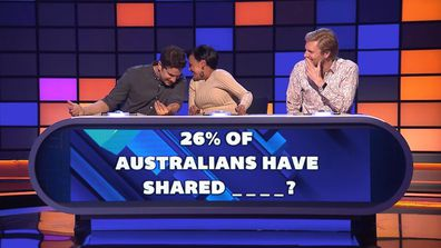 Miranda too embarrassed to say her answer out loud.