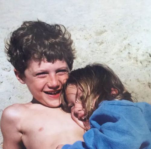 Jake and Caroline Danehy grew up in a 'barefoot community' in Fair Harbor, Fire Island. Picture: Fair Harbor