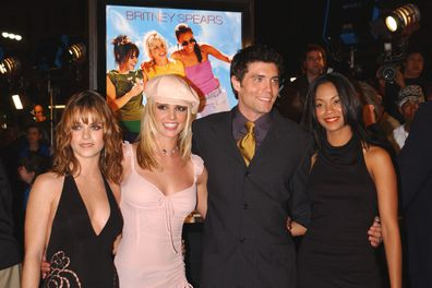 Taryn Manning, Britney Spears, Anson Mounnt and Zoe Saldana