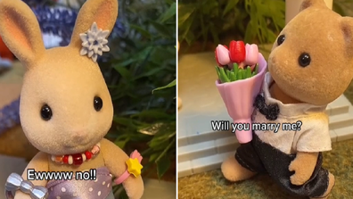 Sylvanian Dramas TikTok series plays out real life dilemmas with plot twists, one to do with a marriage proposal.