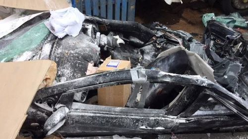 The wreckage of the car. (NSW Police)