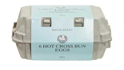 """<p><a href=""""http://shop.davidjones.com.au/djs/en/davidjones/easter-chocolate-type-eggs"""" target=""""_top"""" draggable=""""false"""">David Jones</a> has long been serving up Easter delights and this year we couldn't go past their hot cross bun flavoured chocolate eggs. Complete in their own egg carton, it's your favourite Easter chocolate that tastes like your favourite Easter bun. Win.</p> <p>RRP - $14.95 for six eggs</p>"""