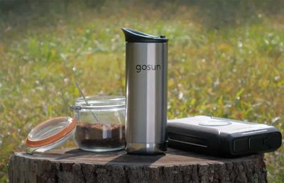A solar powered portable coffee maker