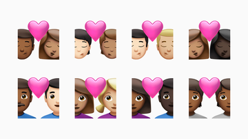 Users can now select different skin tones for each individual in the couple kissing and couple with heart emoji.