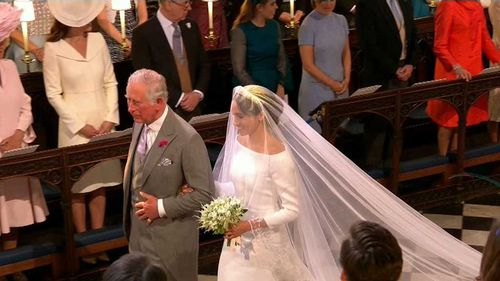 """Mr Markle said he was """"jealous"""" of Prince Charles, but honoured he was able to stand in. Picture: PA"""