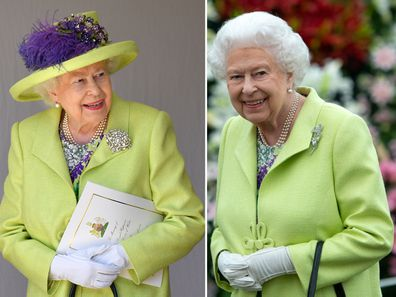 The Queen steps out in same outfit she wore to Meghan and Harry's wedding.