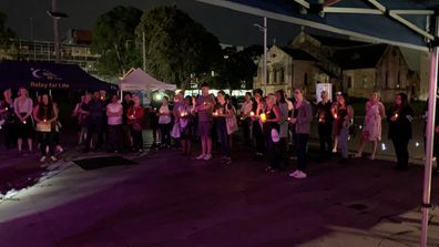 A small but solemn crowd gathered outside of Parramatta Town Hall.