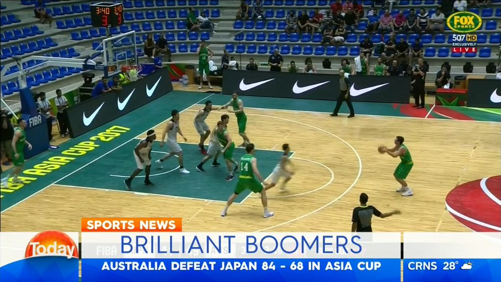 Boomers beat Japan in front of empty stands