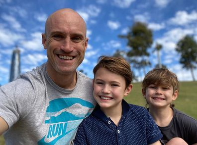 Ryan 'Fitzy' Fitzgerald, sons Hewston, Lennox, Instagram photo