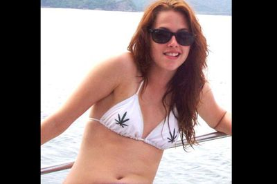 When Kristen was snapped holidaying on a yacht in Costa Rica sporting a controversial choice of bikini, it all clicked. Her constantly vacant expression suddenly made a whole lot of sense.