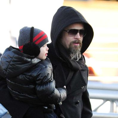 Brad Pitt and Shiloh Jolie-Pitt in 2009.