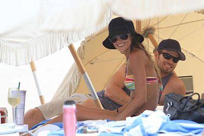 Aussie actress Sharni Vinson hit the beach in Florida with her <i>Twilight</i> star boyfriend Kellan Lutz.