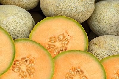 Rockmelon: 7g sugar per 100g