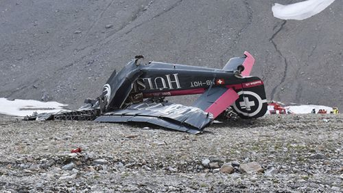 The plane landed almost vertically. Image: AP