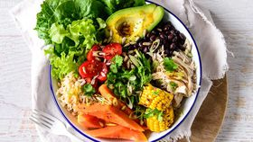 Mexican papaya buddha bowl