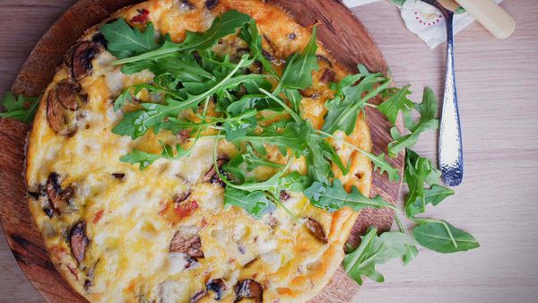 Jane's five-ingredient bacon and mushroom frittata