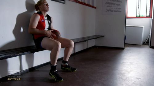 Hannah Mouncey has given up on her AFLW dream.