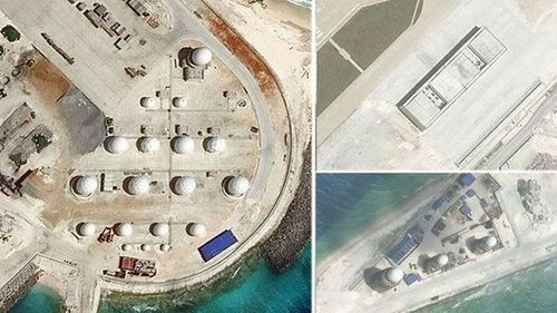 Chinese structures on islands have become a political issue for the region.
