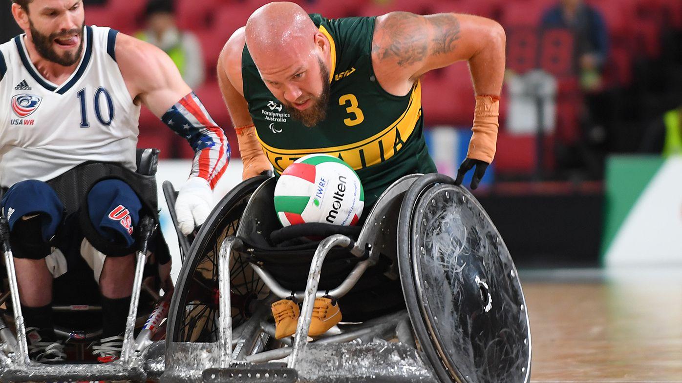 Ryley Batt in action for Australia.