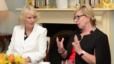 """Camilla sat and spoke with Ms Batty at the event. (AAP)<span class=""""Apple-tab-span"""" style=""""white-space: pre;""""></span>"""