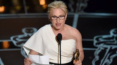 <b>Best Supporting Actress:</b><br><br>Patricia Arquette accepting the Oscar for her acclaimed role in 'Boyhood'.<br><br>Arquette also used her time on stage to highlight the gender pay gap to cheers from the audience. (AAP)