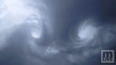 This is the intense moment nature's beauty turned malevolent. (Supplied)