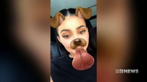 Kylie Jenner on Snapchat. (9NEWS)