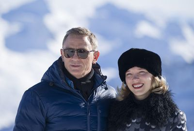 Daniel and new Bond girl Lea filmed at the Austrian ski resort of Soelden.