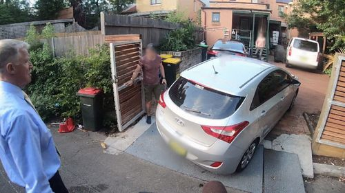 """David Zammit was today driven to an address at Glebe which bills itself as a """"safe place for change""""."""