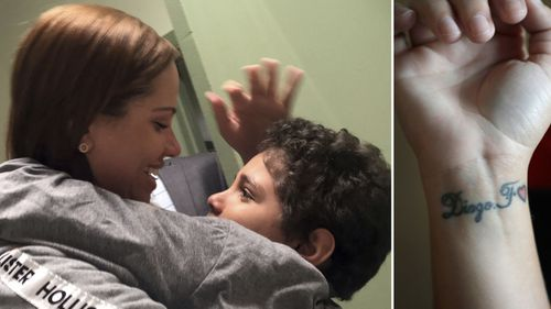 A US judge has ruled Lidia Karine Souza have her son Diogo, nine, immediately returned to her after they were separated at the Mexico border. (AP)