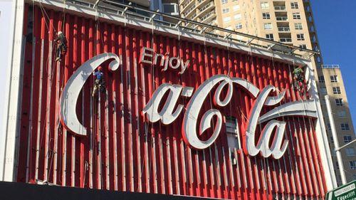 The original billboard was dismantled last year. (AAP)