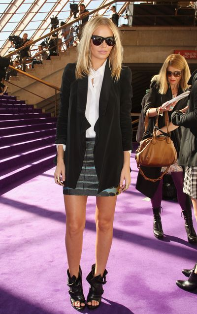 Lara Bingle at the Dion Lee collection show at Rosemount Australian Fashion Week in Sydney, May, 2010