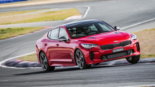 Sports cars such as the Kia Stinger are becoming first-choice among law enforcement agencies for use in pursuits. Picture: Supplied.