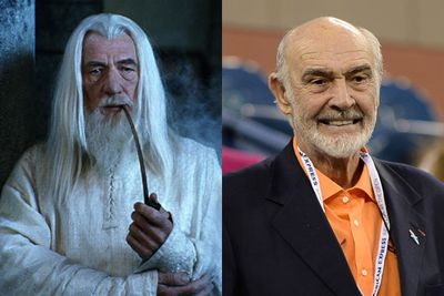 Sean Connery as Gandalf in <em>The Lord of the Rings</em>