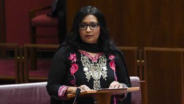 Greens Senator Mehreen Faruqi addresses Parliament.