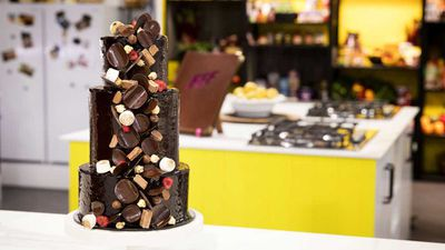 "Recipe: <a href=""http://kitchen.nine.com.au/2017/10/31/14/16/anna-polyvious-ultimate-chocolate-tower-celebration-cake"" target=""_top"">Anna Polyviou's ultimate chocolate tower celebration cake</a>"