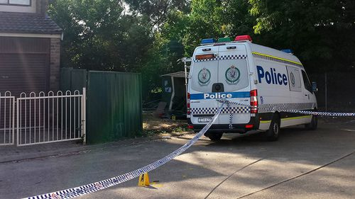The yard where the 17-month-old was fatally run down. Picture: AAP