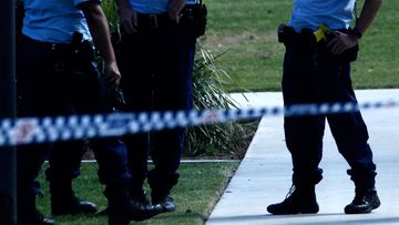 NSW Police attend a crime scene.