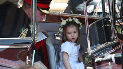Princess Charlotte at the Royal Wedding, May 2018