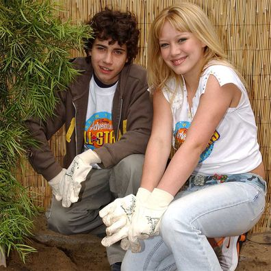 "Hilary Duff and Adam Lamberg from ""Lizzie McGuire"" in 2002."