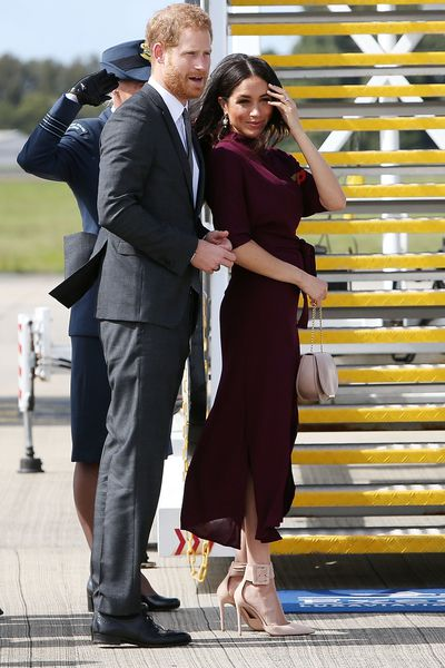 Prince Harry and Meghan Markle departing Sydney Airport on October 28, 2018 in Sydney, Australia