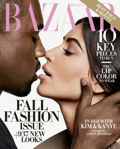 <p><strong><em>Bound 2 Kanye</em></strong></p> <p>Kanye West and Kim Kardashian, <em>Harper's Bazaar</em> US September 2016</p>
