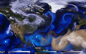 Watching the Atlantic's devastating hurricane season from above