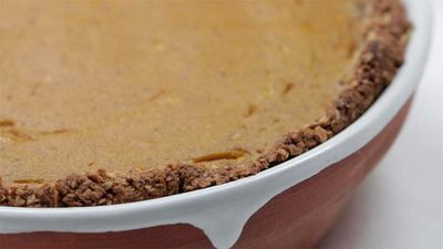 "Recipe:&nbsp;<a href=""http://kitchen.nine.com.au/2016/12/05/14/59/teresa-cutters-pumpkin-pie-with-oatmeal-gingersnap-shortcrust"" target=""_top"">Teresa Cutter's pumpkin pie with oatmeal gingersnap shortcrust</a>"