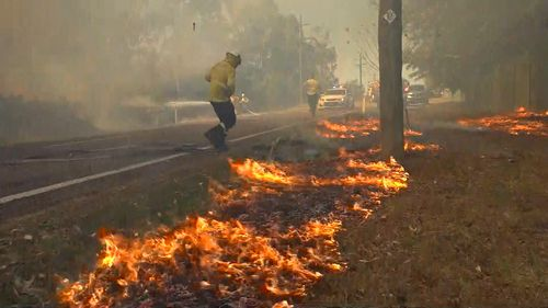 A fire in the NSW Hunter Region was also reported to officers by the Rural Fire Service after evidence was found that it may have been deliberately lit.