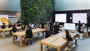 Apple stores across Australia, including this one in Bondi Junction, will reopen on Thursday.